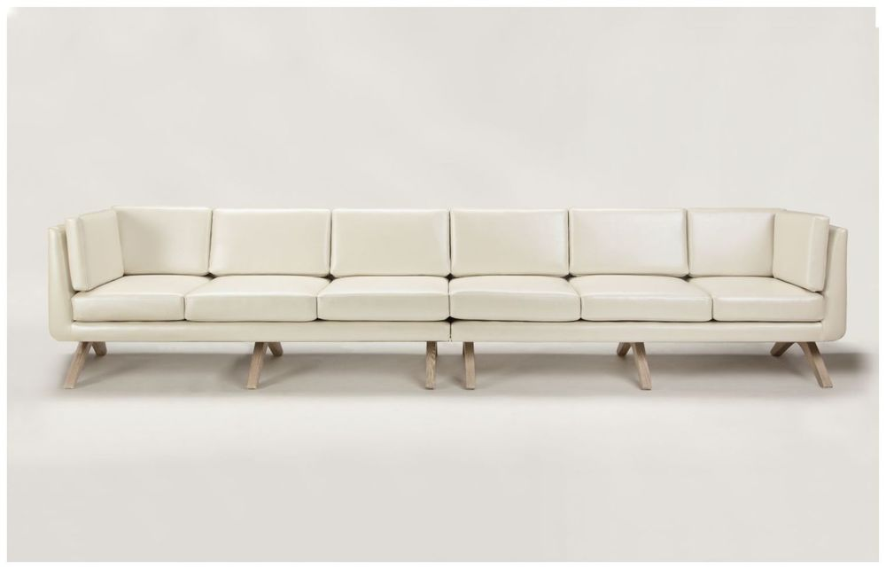 Large Custom White Hospitality Sofa