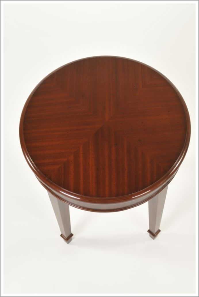Custom End Table with Reverse Diamond Mahogany Veneer