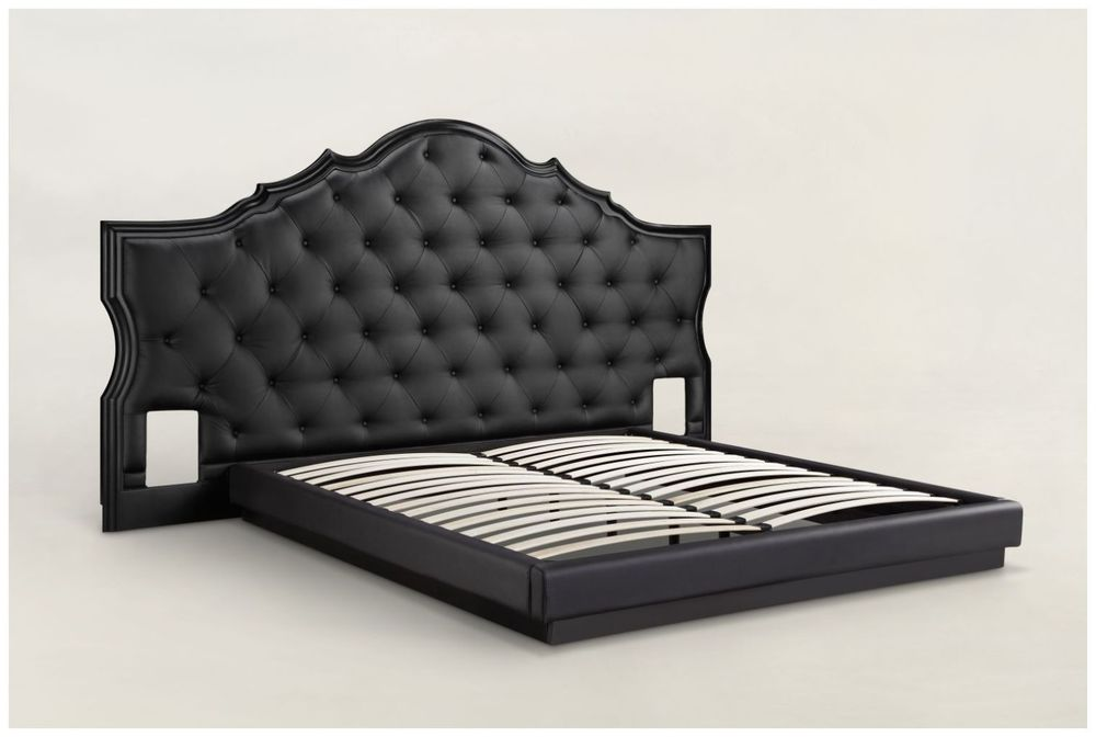 Custom Button Tufted Upholstered Hotel Bed