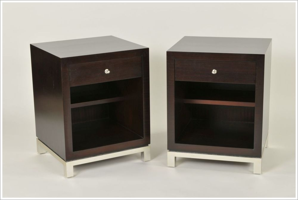 Hospitality Nightstands With Metal Bases