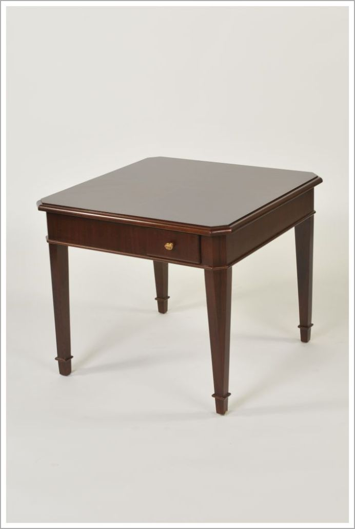 Custom Square Hospitality End Tables with Tapered Legs