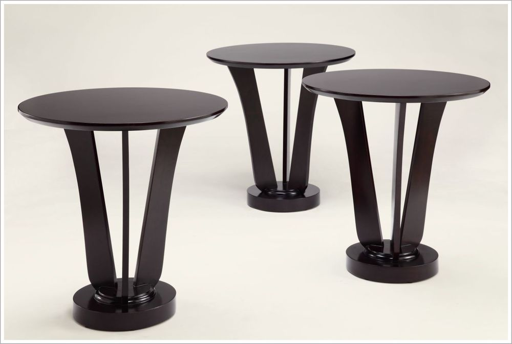 Custom Designed Hospitality End Tables with Tapered Pedestal