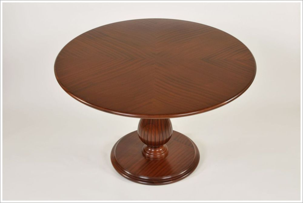 Reverse Diamond Custom Reeded Pedestal Tables