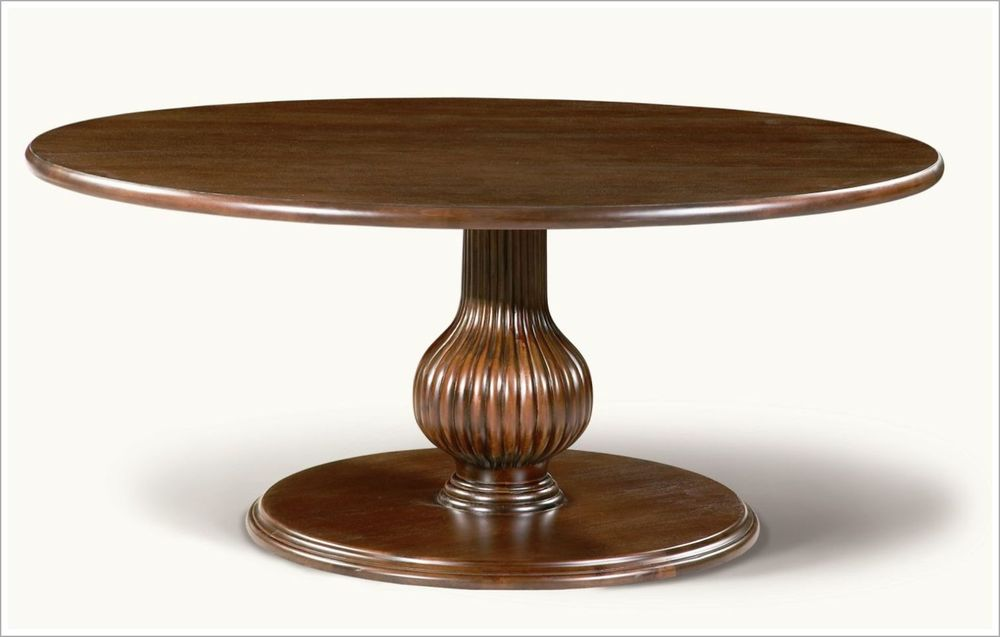 Custom Hotel Lobby Table with Reeded Pedestal