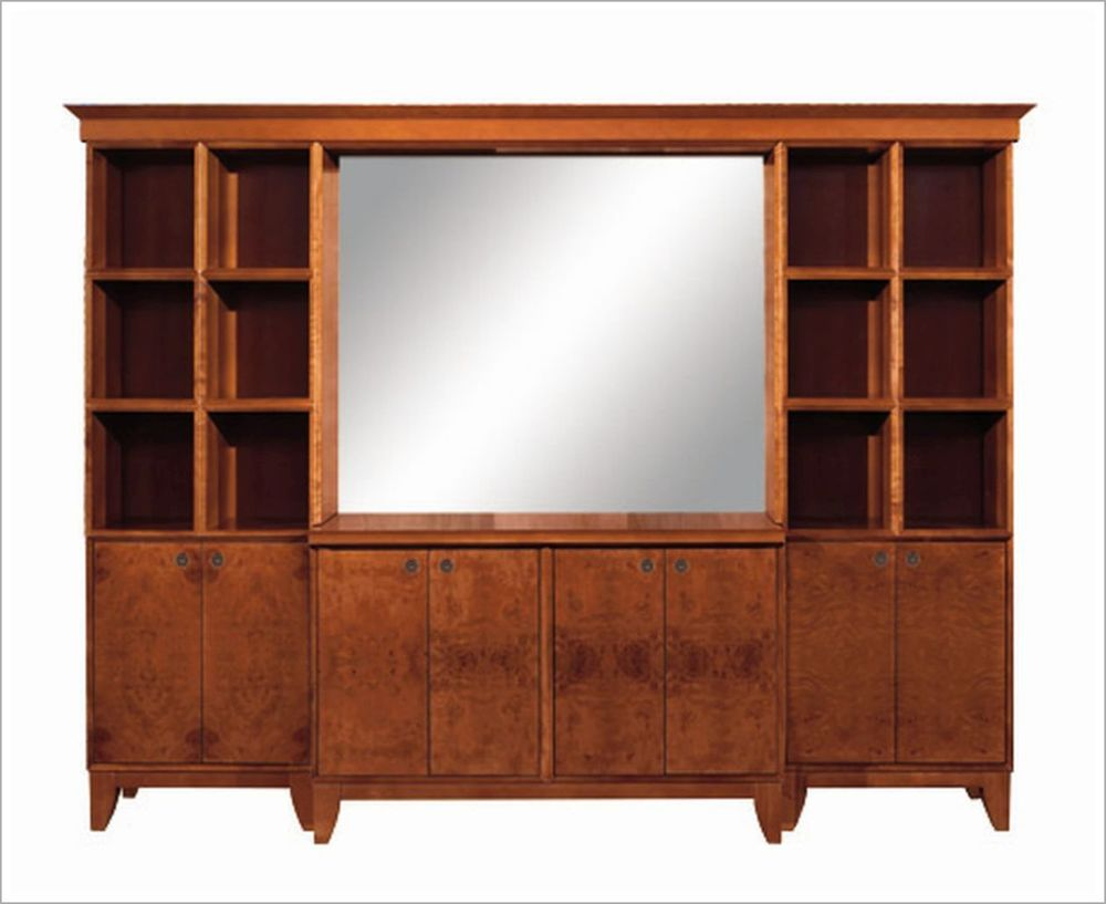 Custom Hospitality Cabinet with Center Mirror