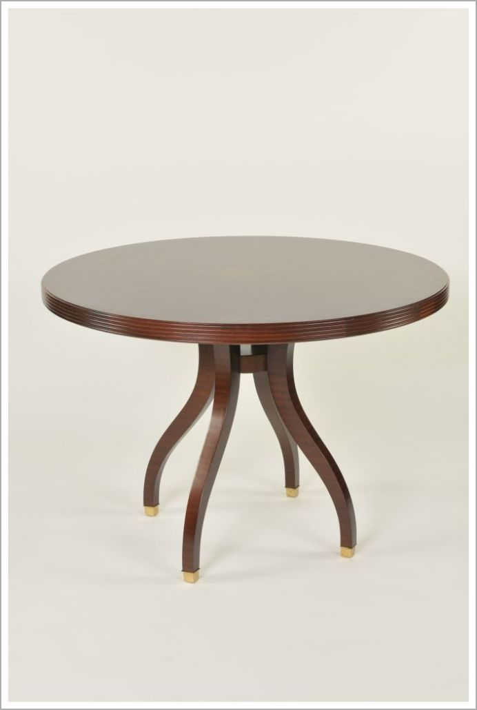 Custom Restaurant Table with Contoured Legs