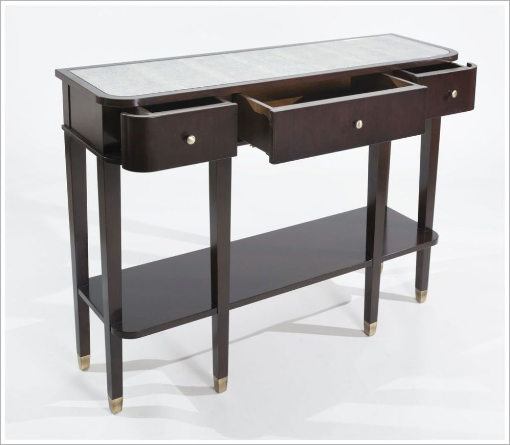 Custom Three Drawer Hotel Console Table