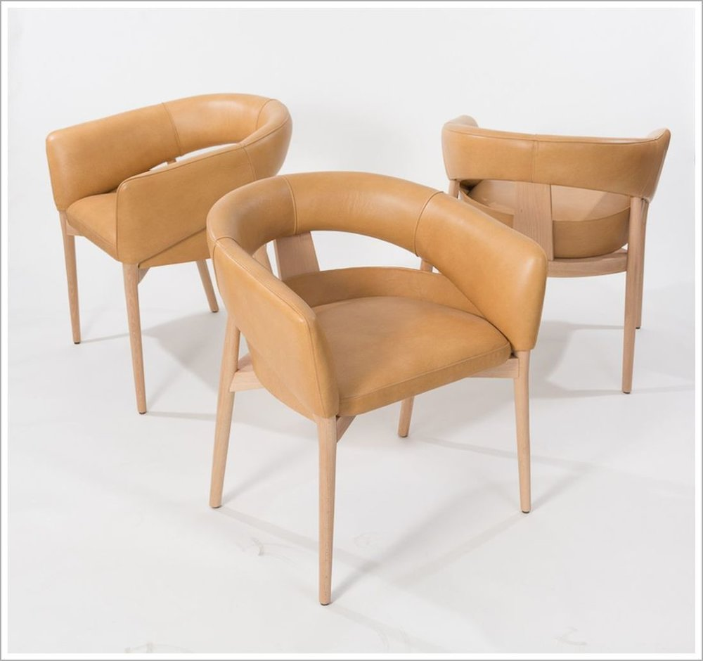 Custom Leather Restaurant Armchairs