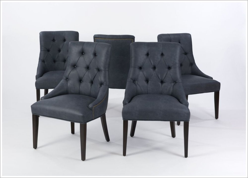 Custom Restaurant Chair with Tufted Back