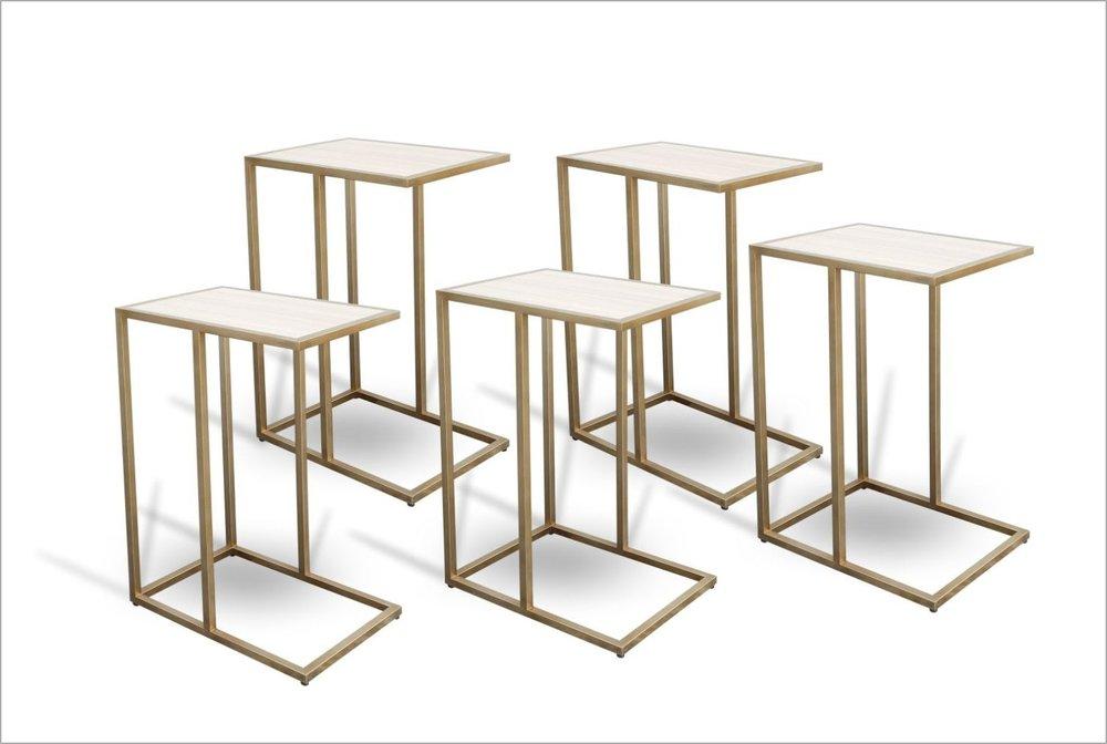 Custom Brass End Tables