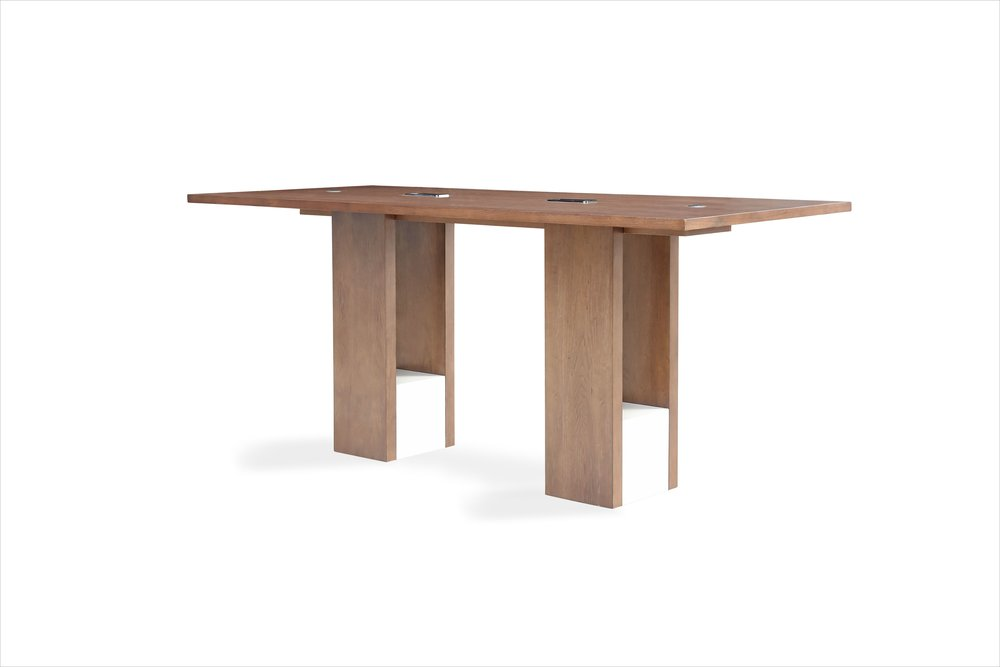 Custom Lobby Table with Integrated Power