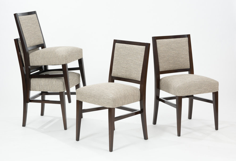Custom Stackable Dining Chairs