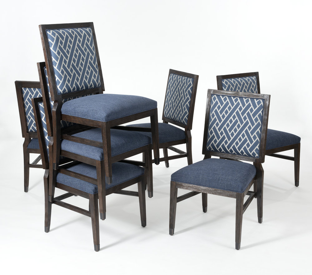 Dining Chair with Wire Brushed Frame