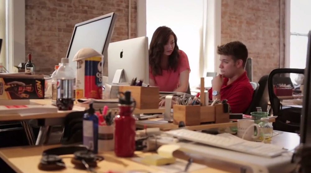 Working with Zach Sims, co-founder of Codecademy, in our NoHo office in NYC. Photo: GOOD Magazine
