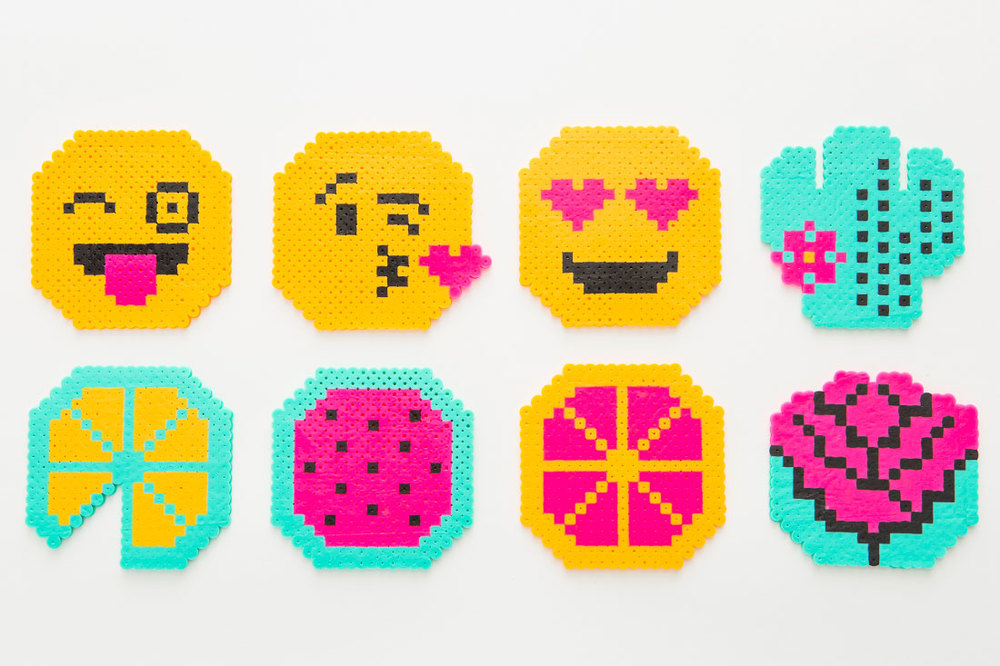 Remember perler beads?! I had a blast with these as a kid! These unbelievable coasters come from Brit + Co kit designer Lee.