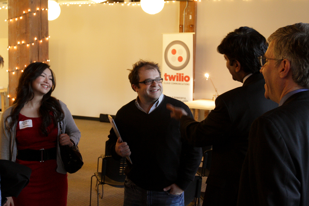 Dorking OUT over meeting Aneesh Chopra, former CTO of the United States, with Twilio CEO Jeff Lawson. Photo: Michael O'Donnell