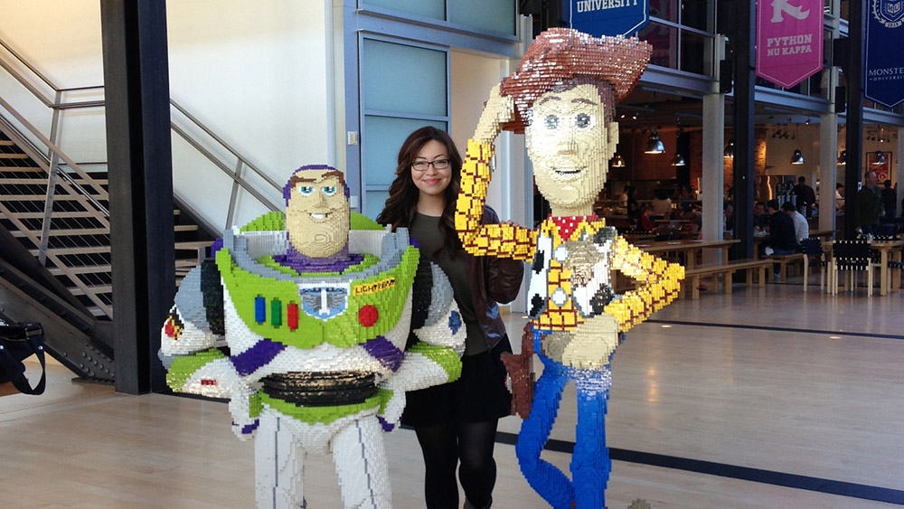 Hanging out with life-size Woody and Buzz at Pixar Animation Studios in Emeryville, CA. Photo: Rasmus Andersson
