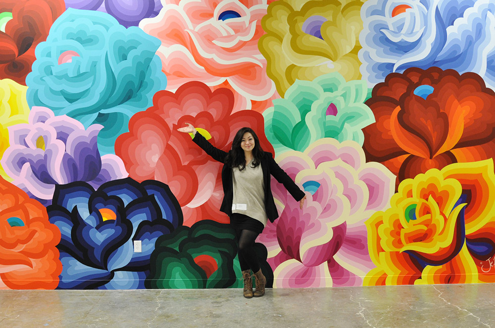 Making myself at home at Facebook HQ in Menlo Park. Photo: Josh Pyles