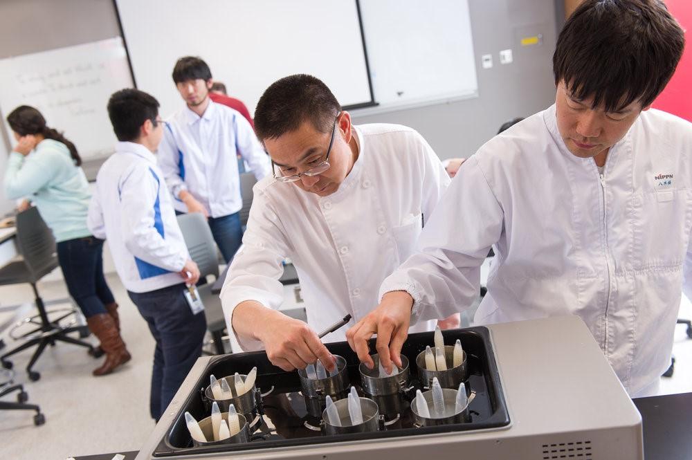 El salón de clases del laboratorio de ciencia de AIB es una instalación única para los estudiantes que aprenden acerca de las pruebas de panificación.