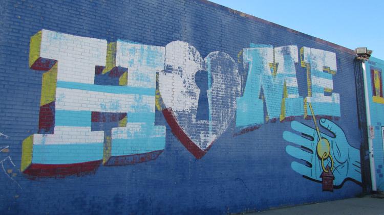 Logan Square Home Art Mural