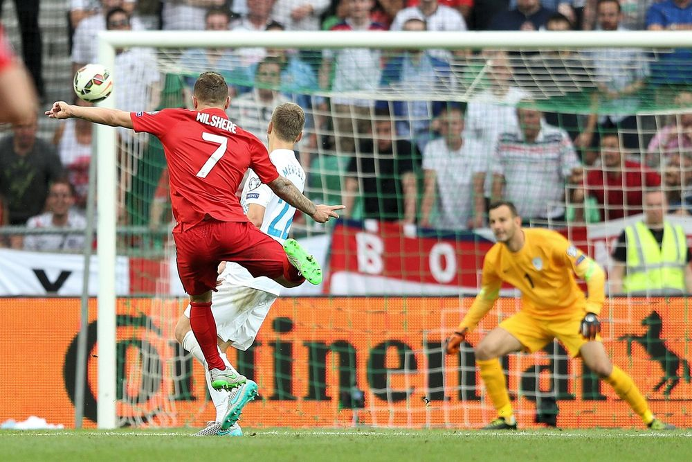 Jack Wilshere scoring one of two thunderbolts in the Euro 2016 qualifier versus Slovenia