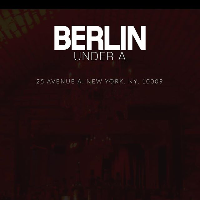 Playing a show tonight at Berlin Under A in New York with a bunch of great bands. Tiger Mountain at 8pm. Come out!