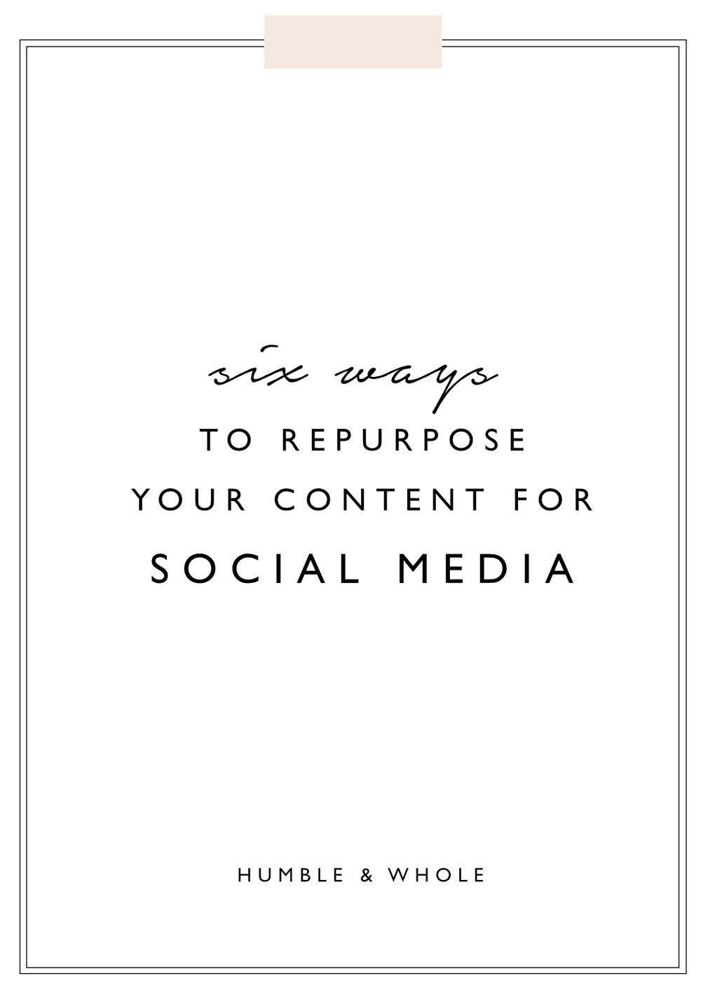 Are you a blogger or creative entrepreneur who struggles with what to post on your social media networks?  If you aren't repurposing your content, you're making things a lot harder on yourself!  You don't want to miss these six ways that you can repurpose your blog content for your social media platforms.