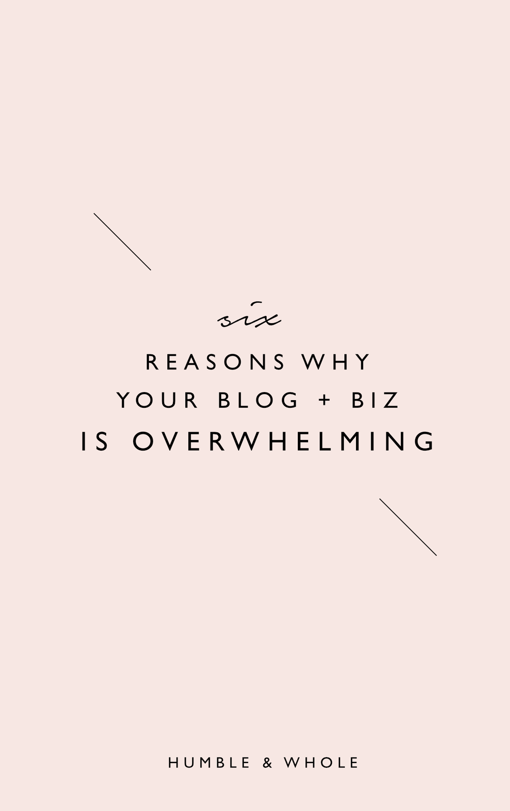 Is your blog or business overwhelming you?  Blogging overwhelm can turn to burn out if it isn't quickly corrected!  Check out these six reasons why your blog is overwhelming you and how you can fix it!