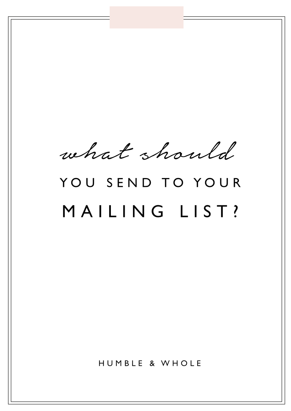 Your mailing list is essentially the most valuable aspect of your business.  You may understand the importance of your list but have no idea to send your subscribers.  Click through to discover 7 types of emails you can send to your mailing list!