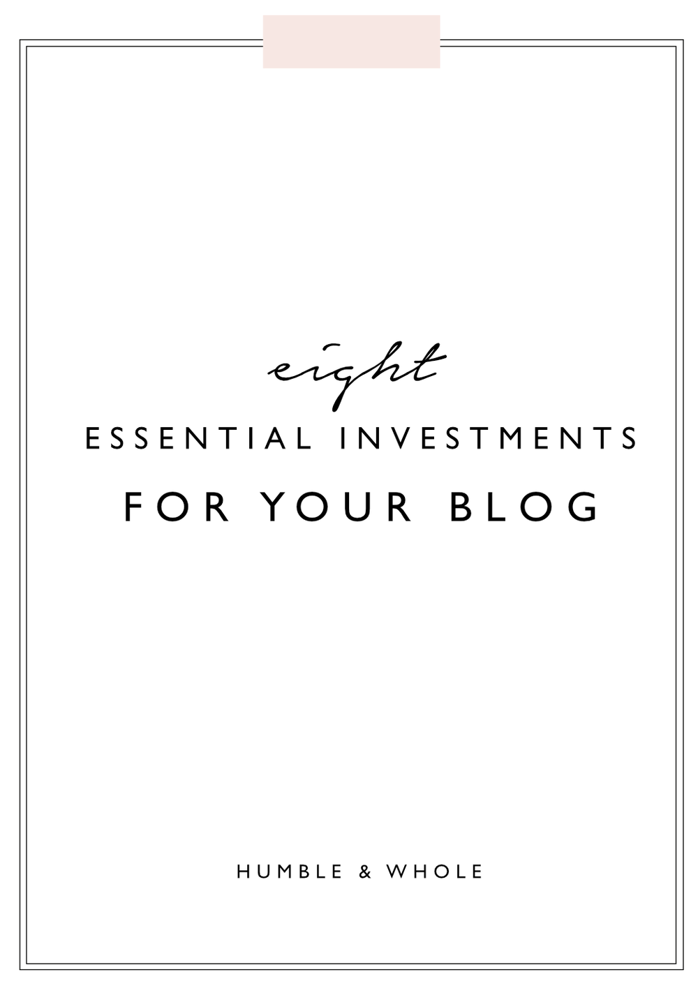 Are you unsure about which investments you should make for your blog or business?  Click through to learn the eight things you need to have for a successful blog or business!