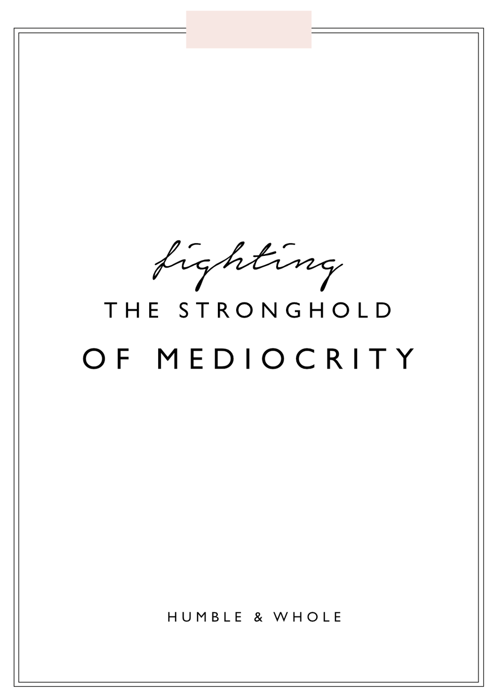 Mediocrity isn't just accepted by society, it's also a stronghold. So many of us are letting our dreams go unachieved to settle for the safety of mediocrity. But it's time for you to step out on faith! Click through to discover how you can leave mediocrity behind you where it belongs!