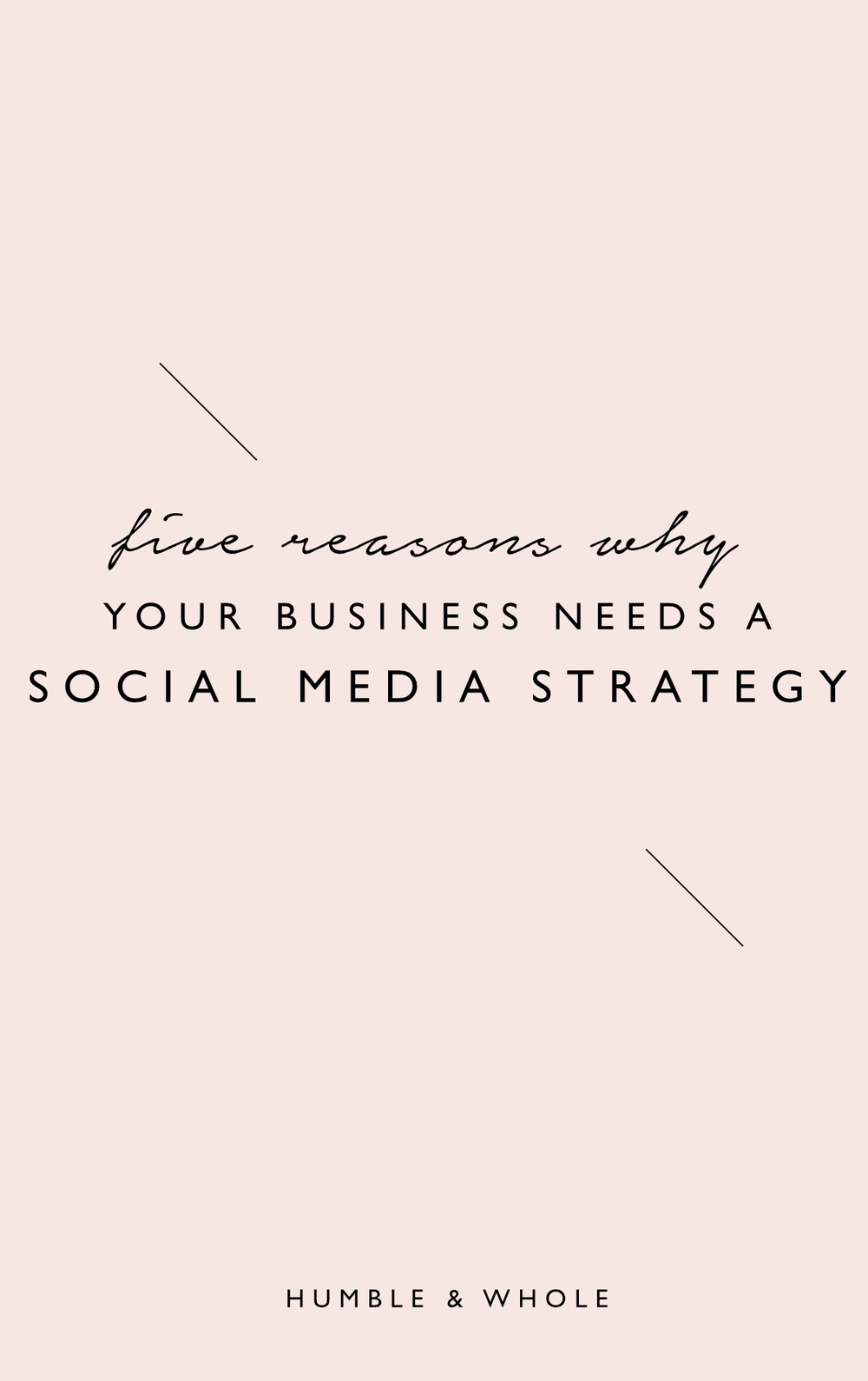 Whether it's because of overwhelm or just an excitement to get themselves out there, a common mistake that we see online business owners make is a failure to be strategic when it comes to their social media presence.  In reality, posting aimlessly or just for the sake of posting is the quickest way to get burnt out with social media.  In this post, we'll introduce you to five reasons why it's worth your while to have a strategy in place for your social media marketing.