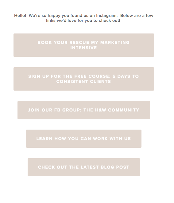 how to grow your email list instagram example