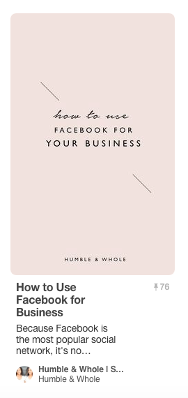 This is one of the multiple Pinterest templates that's used for our H&W pins.