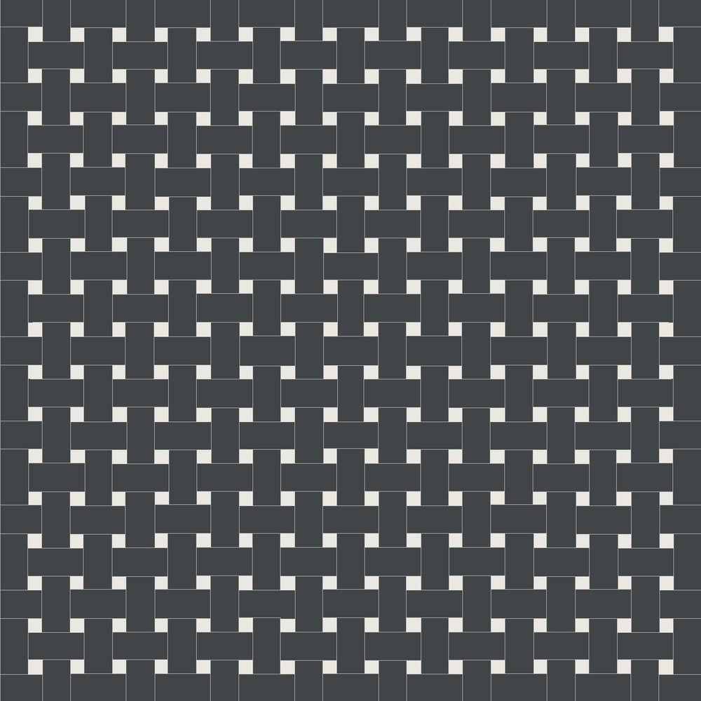 Basketweave - Black and White