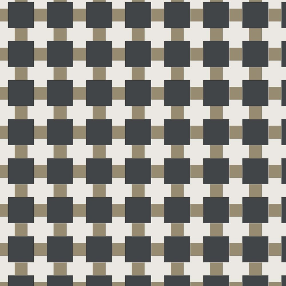 Textile - Black, Gold, White