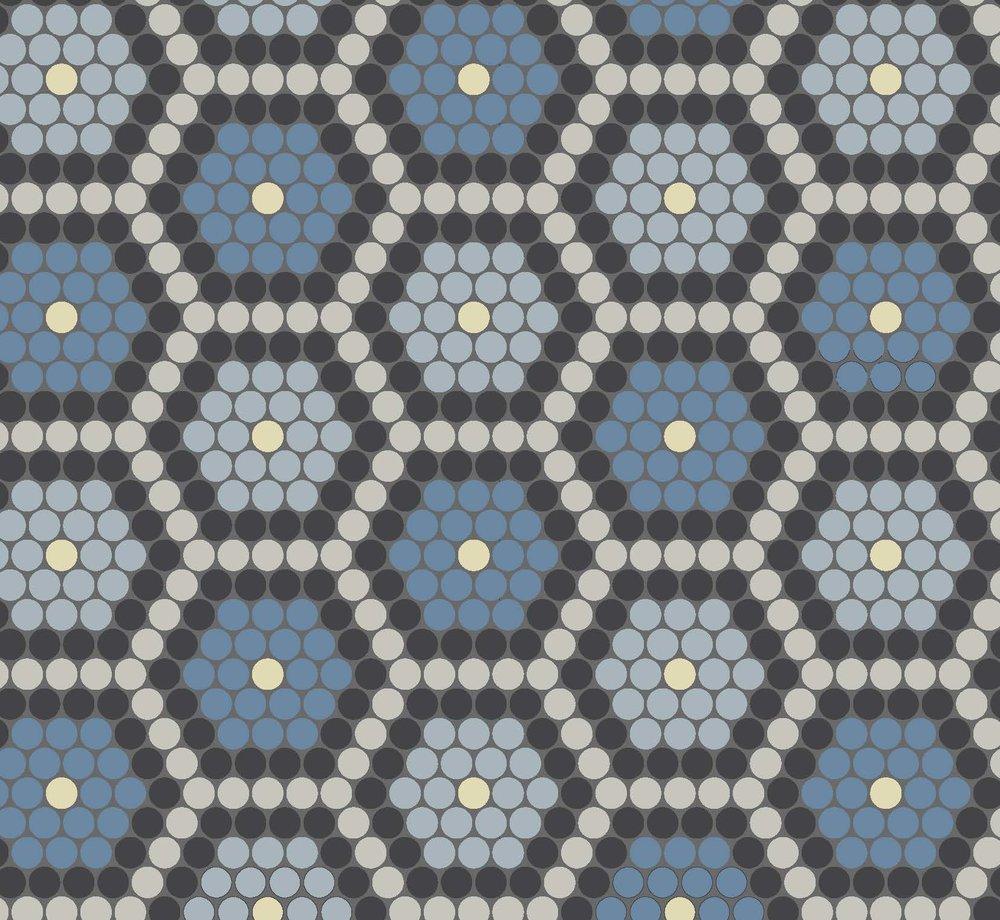 Dessin Type Fleur - Blue
