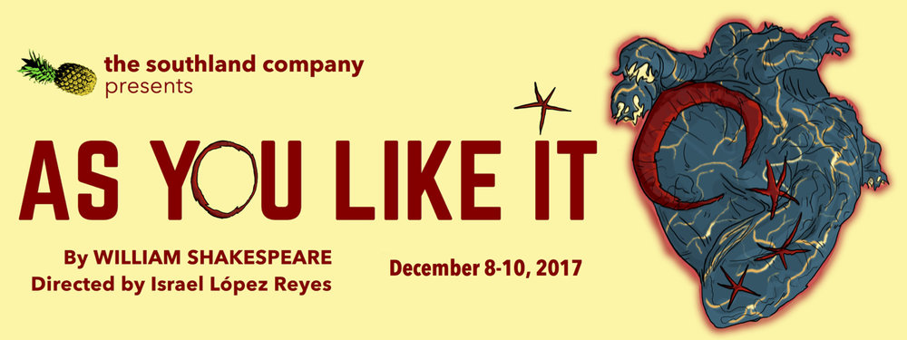 Producer for AS YOU LIKE IT at The Fountain Theatre in Los Angeles. Performances:December 8-10, 2017. For more info, please see thesouthlandcompany.com Tickets:southlandAYLI.bpt.me