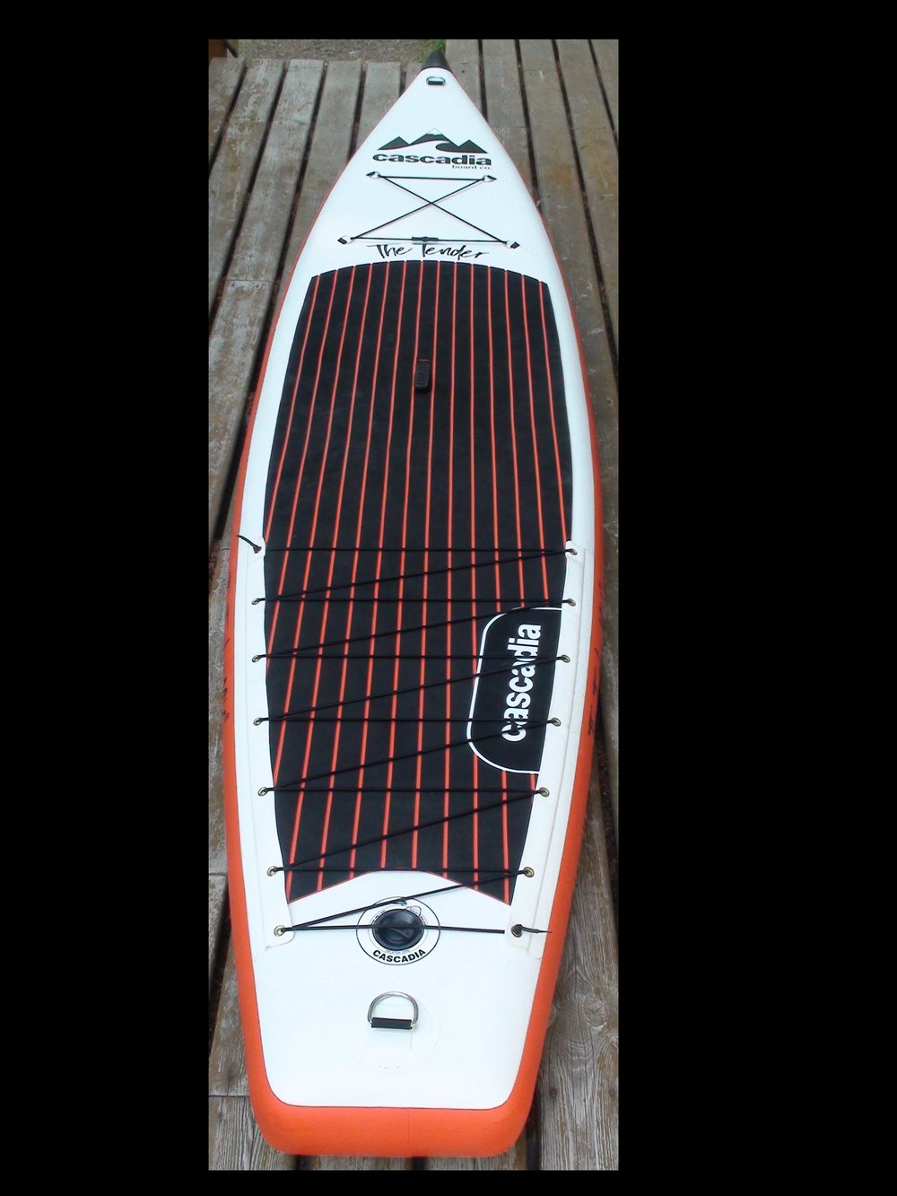 "The Cascadia 12' 6"" Tender Inflatable Stand Up Paddle Board for multi-day Stand Up Paddle Board adventures."