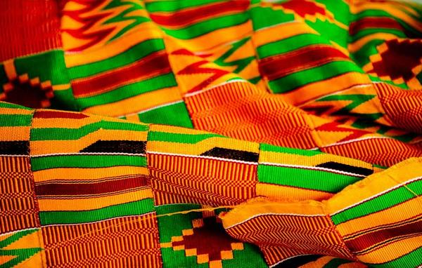 Traditional Kente cloth of the Akan people of Southern Ghana