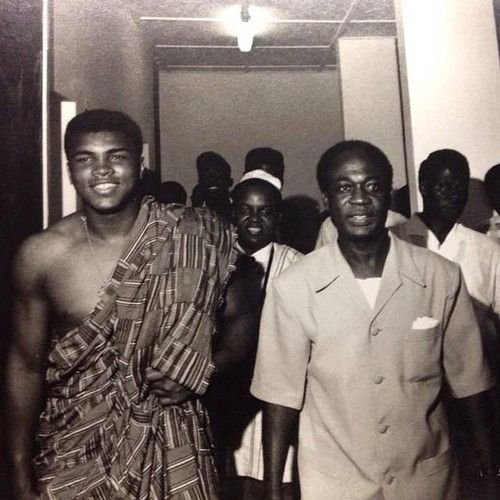 Muhammad Ali & Kwame Nkrumah in Accra, 1964