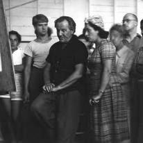 ROBERT DE NIRO, SR (left) STUDIED WITH HANS HOFMANN, 1939-1942.
