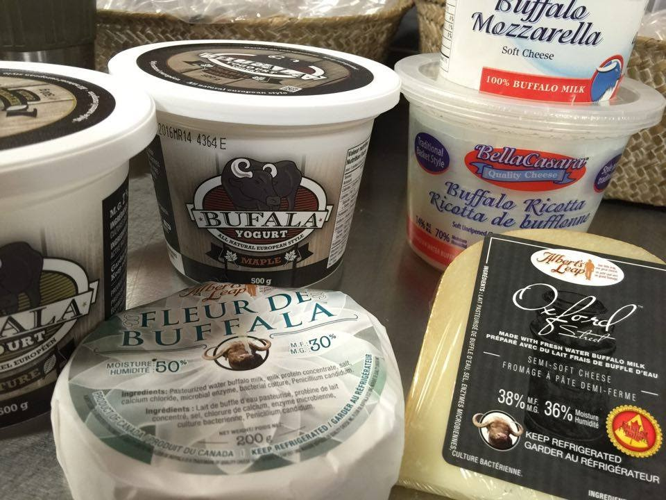 A selection of items we carry that are made with Buffalo Milk.