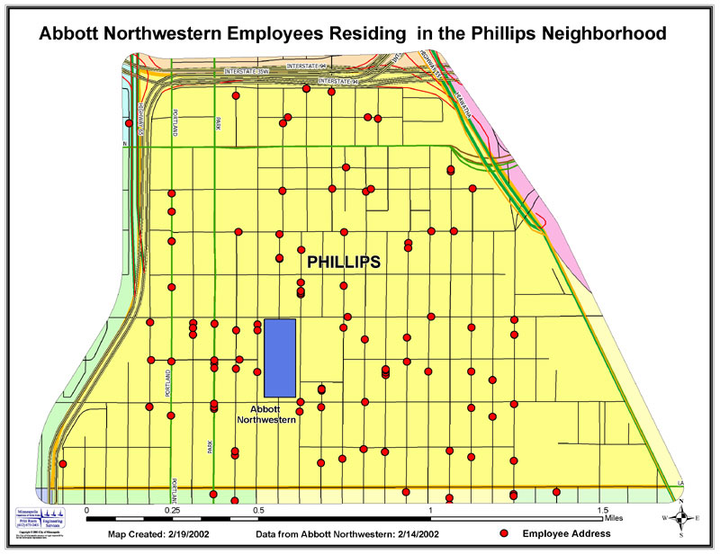 Abbott Northwestern employees residing in the Phillips neighborhood