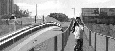 Julie Snow Architects' preliminary conceptual design for the Chicago Avenue bridge.