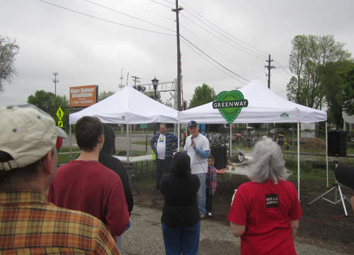 Commissioner McLaughlin welcomes everyone to Arbor Day.