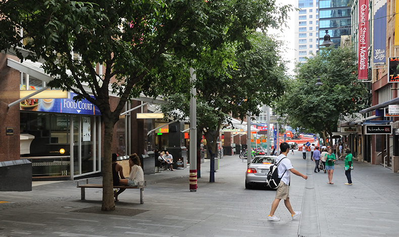 Shared street in Auckland, NZ