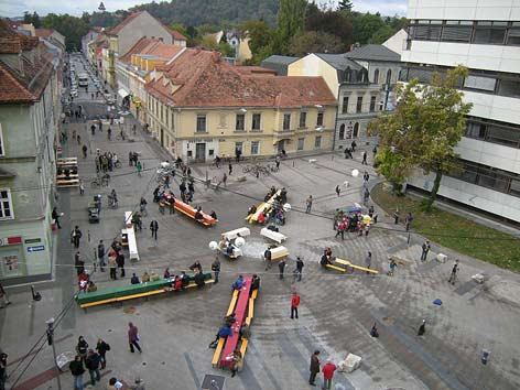 Sonnenfelsplatz graz in Austria