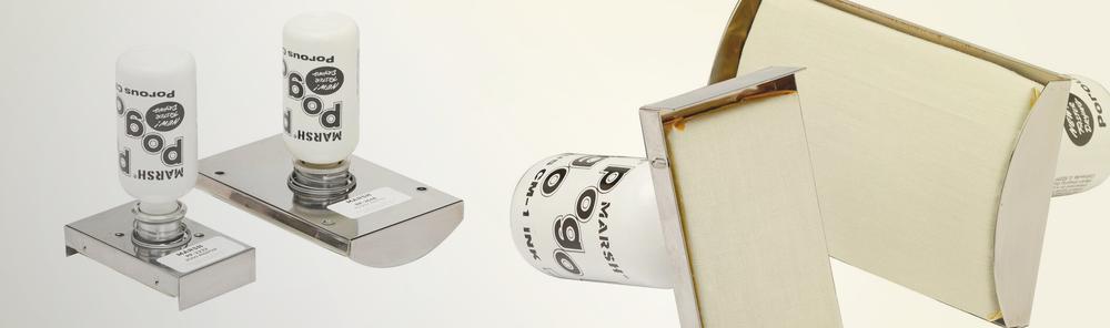 MARQUAGE MANUEL PAR CONTACT  Imprimantes manuelles Pogo® plates ou courbées munies de stencils à l'encre. Pour marquer sur toute surface la même information choisie de nos stencils standards ou sur mesure.    PDF