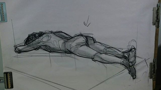 Foreshortening practice  #lifedrawing